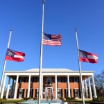 Georgia Governors Mansion Flags Half Staff