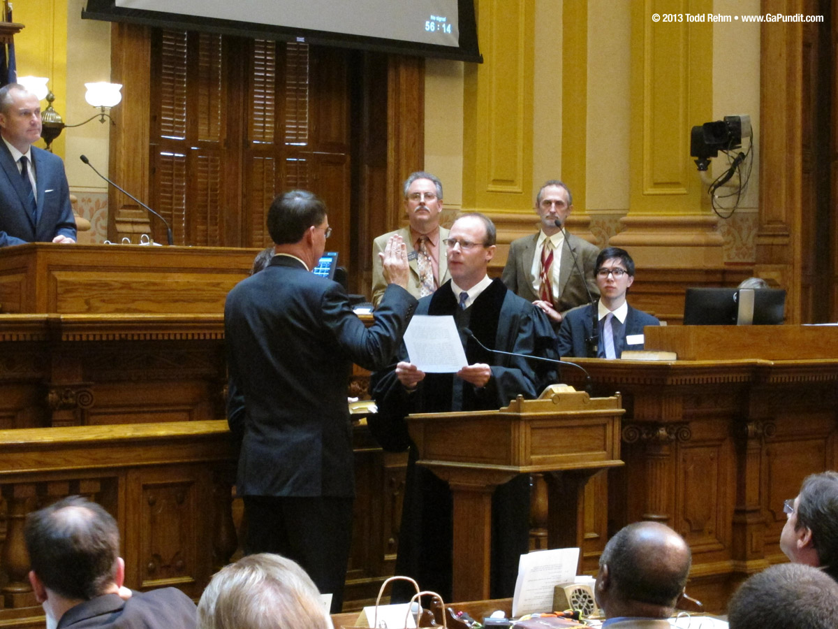 Senator Dean Burke Sworn In 02112013