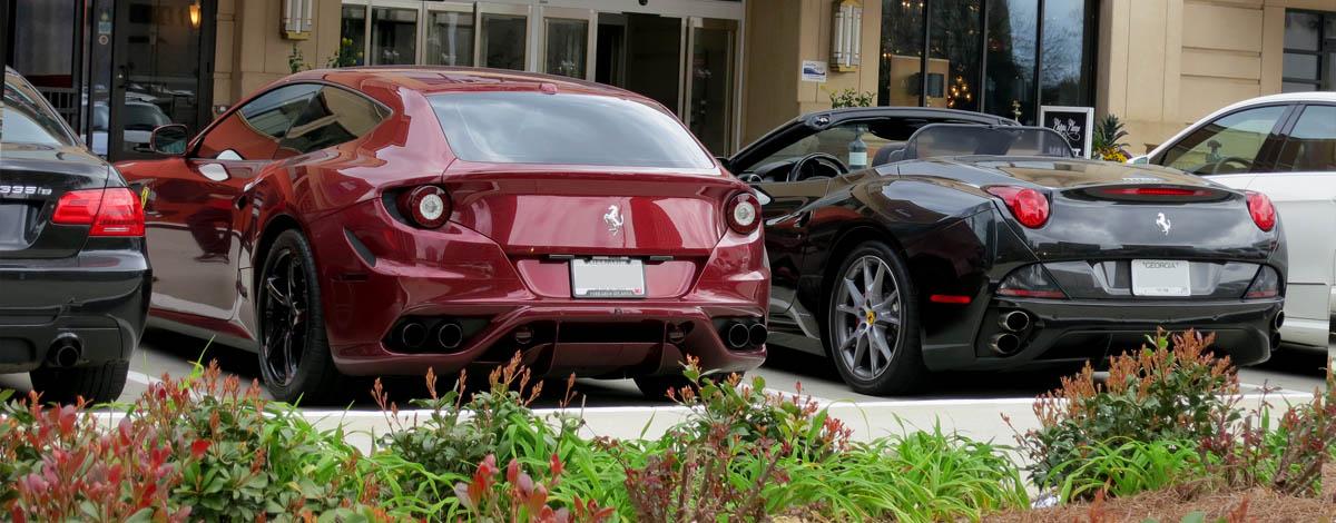 Ferrari California and FF rear