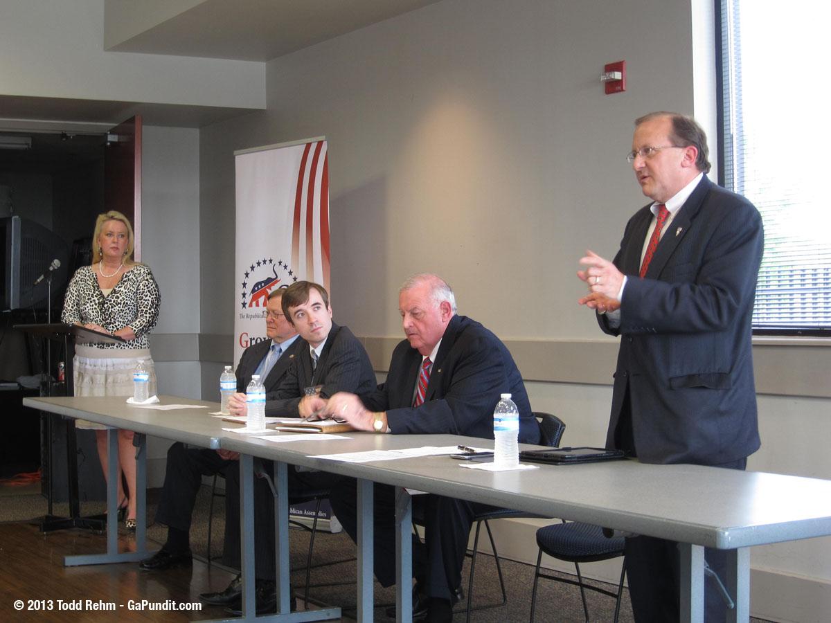 BJ Van Gundy Speaking at GA GOP Debate