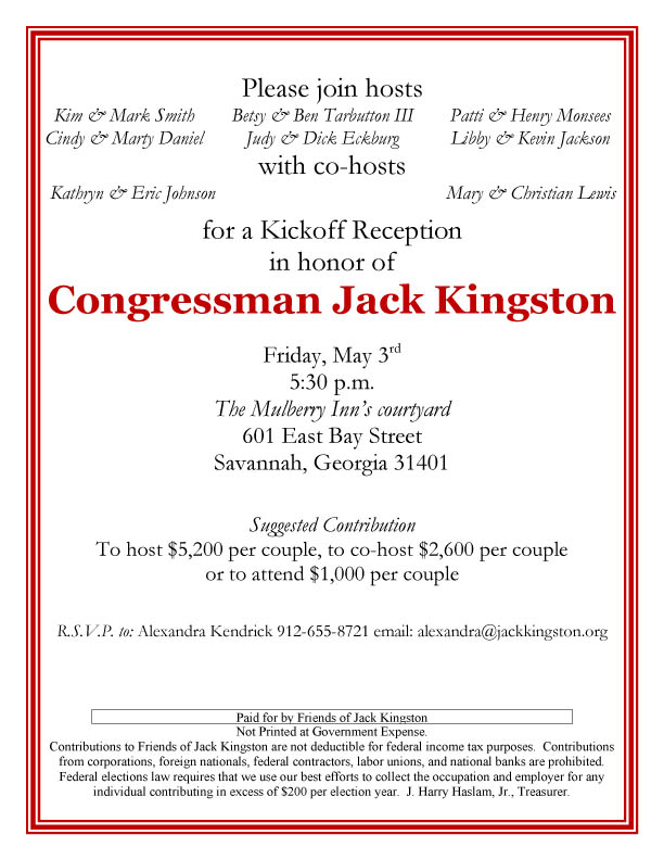 Kingston Savannah Kickoff Reception1