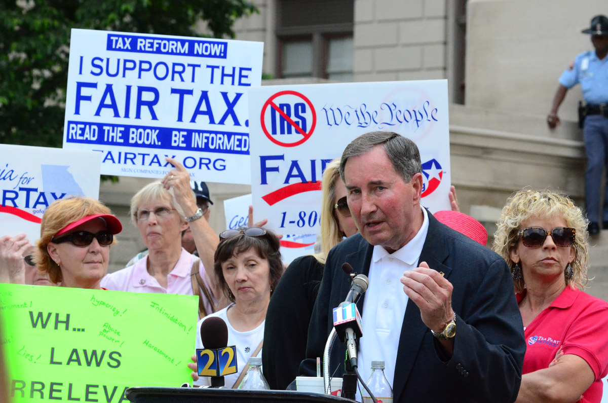 Bill McDuffie Tea Party Protest1