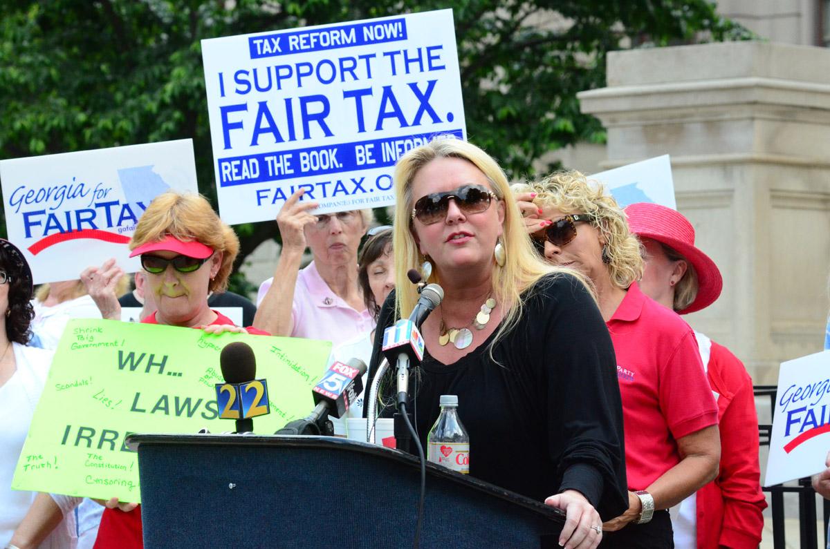 Julianne Thompson Tea Party Protest
