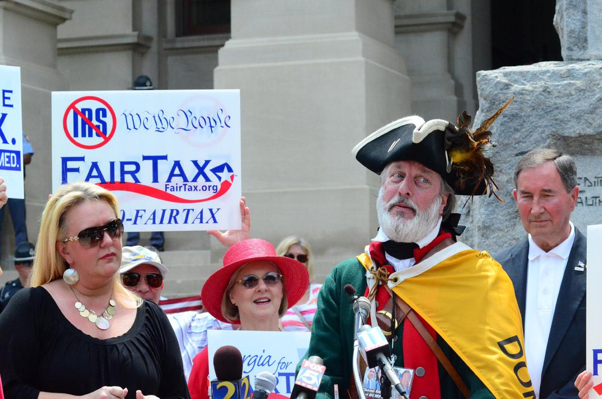 William Temple Tea Party Protest1