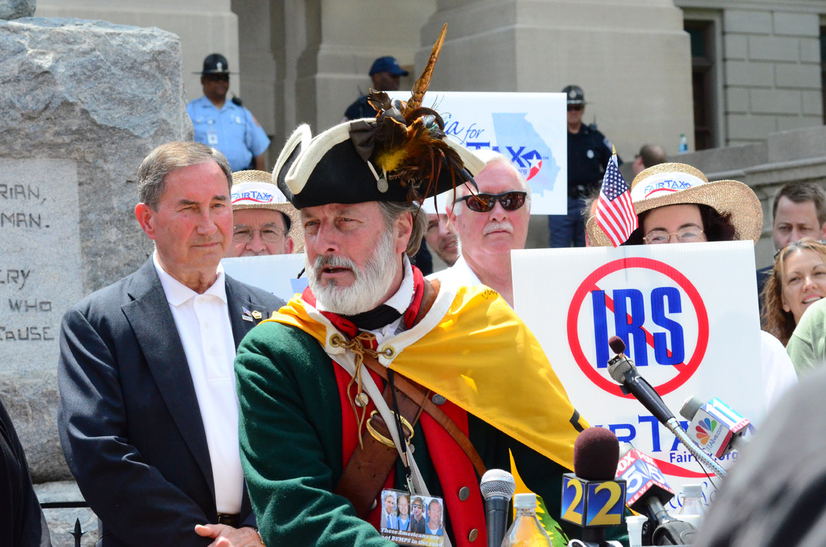 William Temple Tea Party Protest3