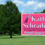 New yardsigns for Kathy Schrader for Gwinnett County Superior Court Judge runoff election