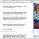 Online advertising watch: Michelle Nunn display ads cropping up