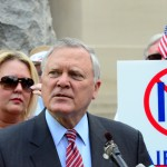 Governor Deal speaks to the Tea Party Protest at the Georgia State Capitol