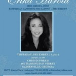 Erika Harold: GOP Candidate for Congress in Illinois & 2003 Miss America in Hall County  – Tomorrow –