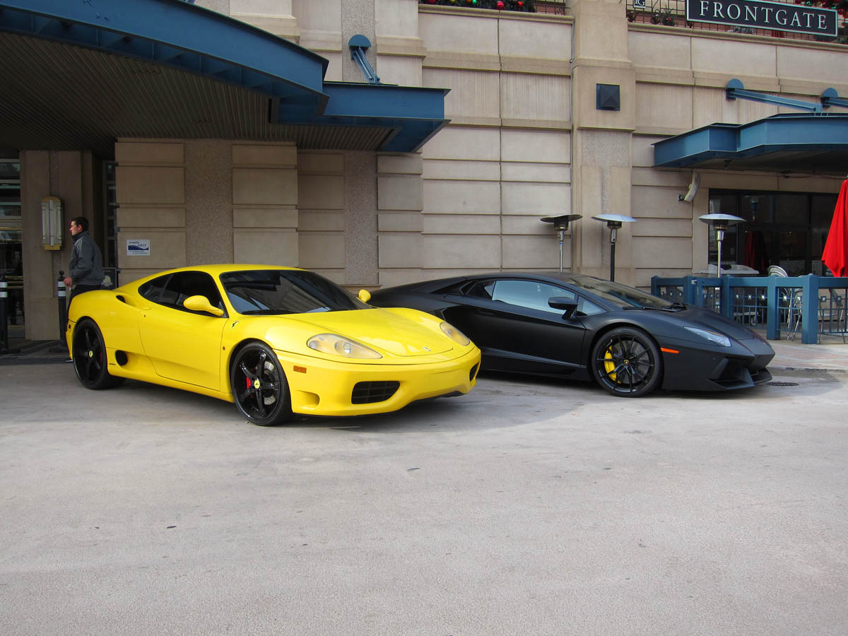 Ferrari 360 Lamborghini Avendador 2