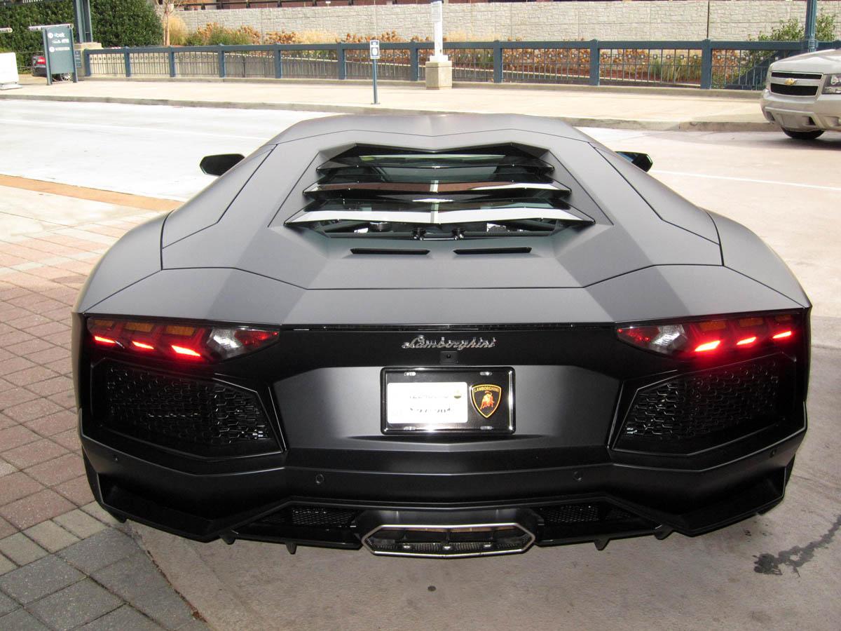 Lamborghini Aventador Matte Black rear