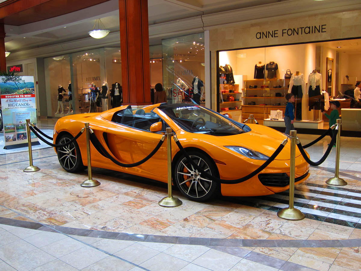 Orange McLaren inside side