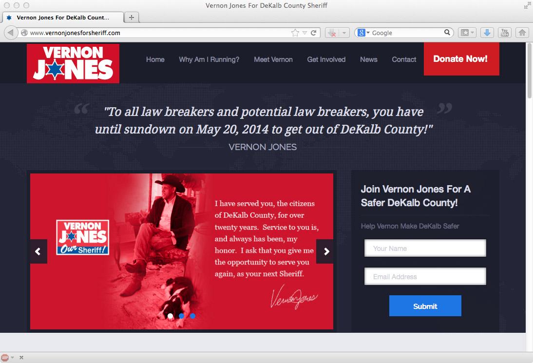 Vernon Jones DeKalb Sheriff Website