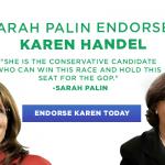 Karen Handel Senate: The Sarah Palin Endorsement