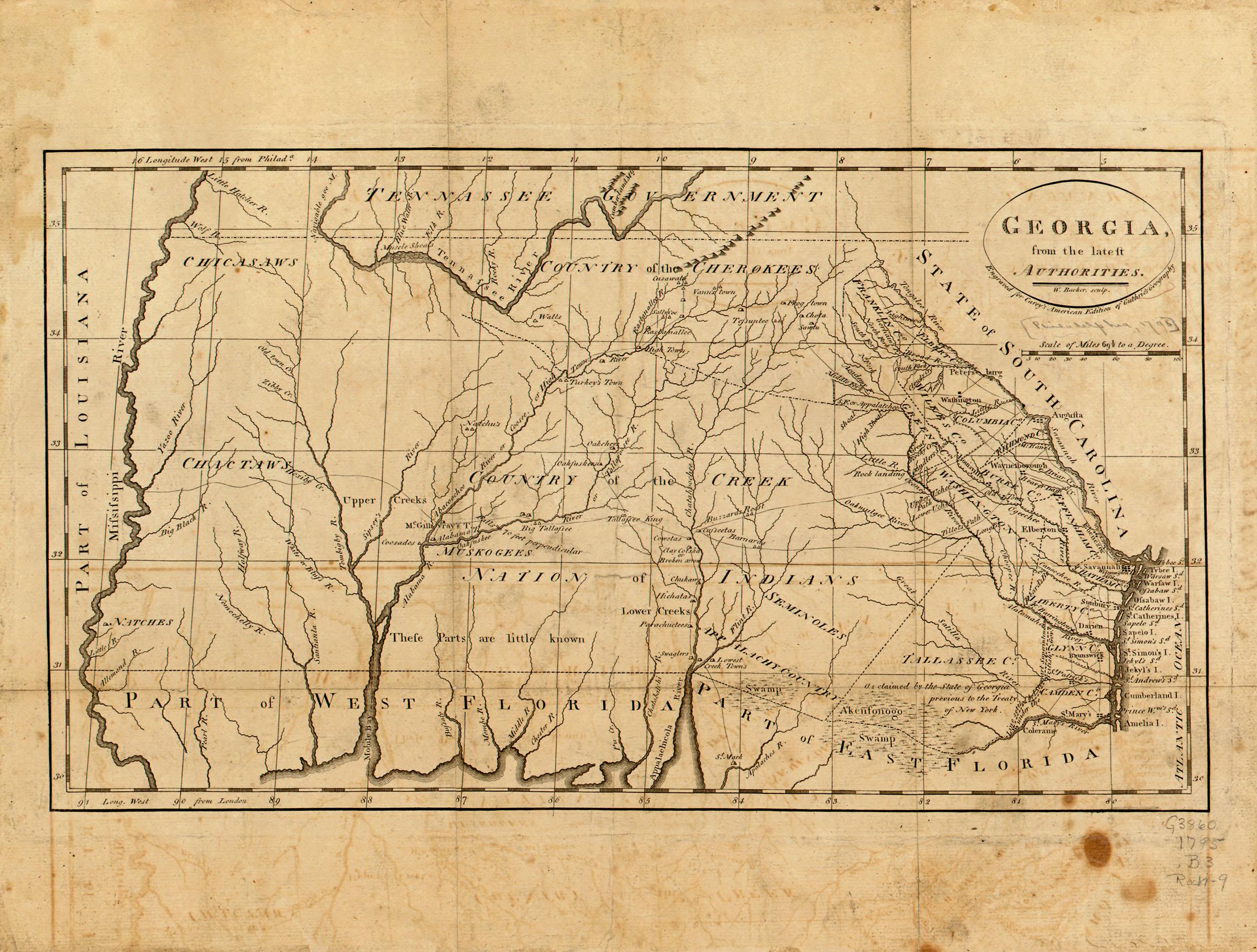 Georgia Map 1795