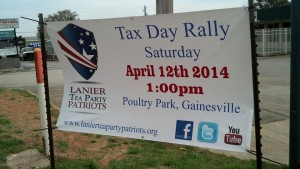 Tax Rally Lanier