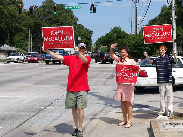 Heather Whitestone McCallum Sign Waving