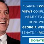 Karen Handel Senate: Rick Santorum – I Support Karen Handel For Senate
