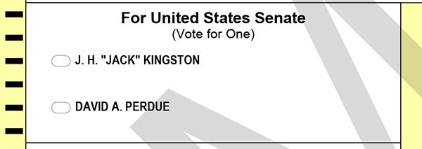 Georgia Republican Senate Runoff Sample Ballot