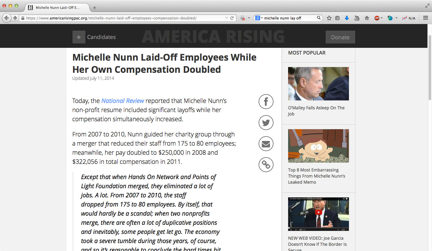 Nunn laid off employees