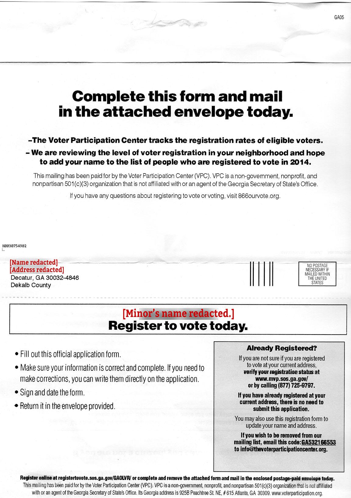 Minor Voter Registration
