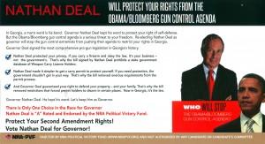 Nathan Deal NRA Mailer Back
