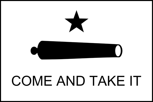 Texas Cannon Flag 600