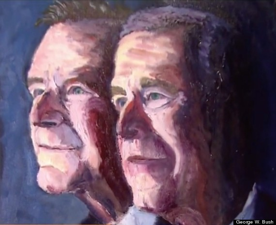 President George W Bush 41 Amp 43 The Painting Georgia