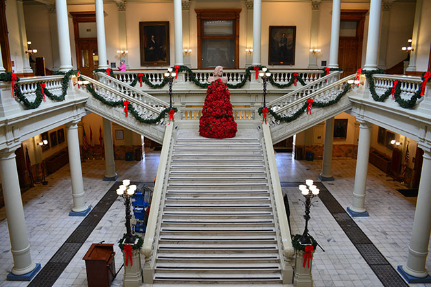 State Capitol Lobby Christmas