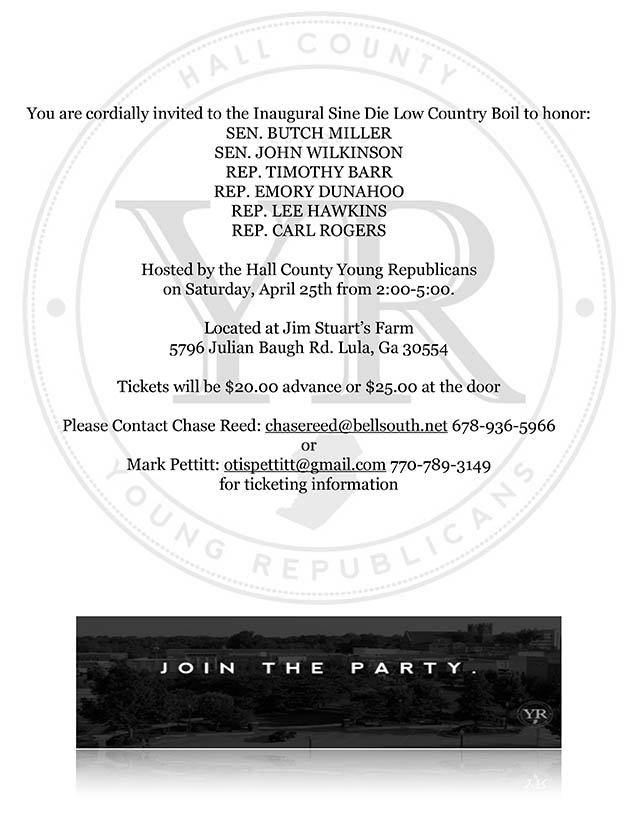 Sine DIe Low County Invite