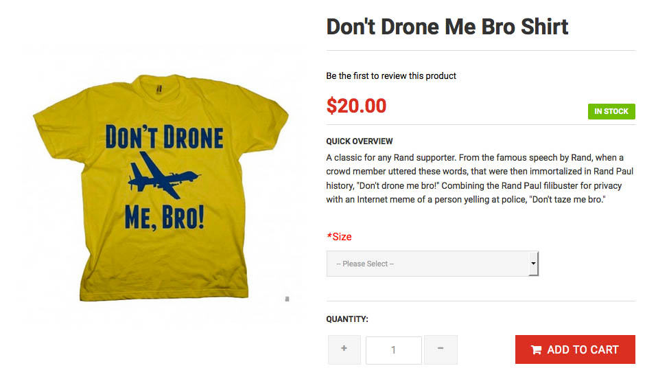 Rand Paul Drone Shirt