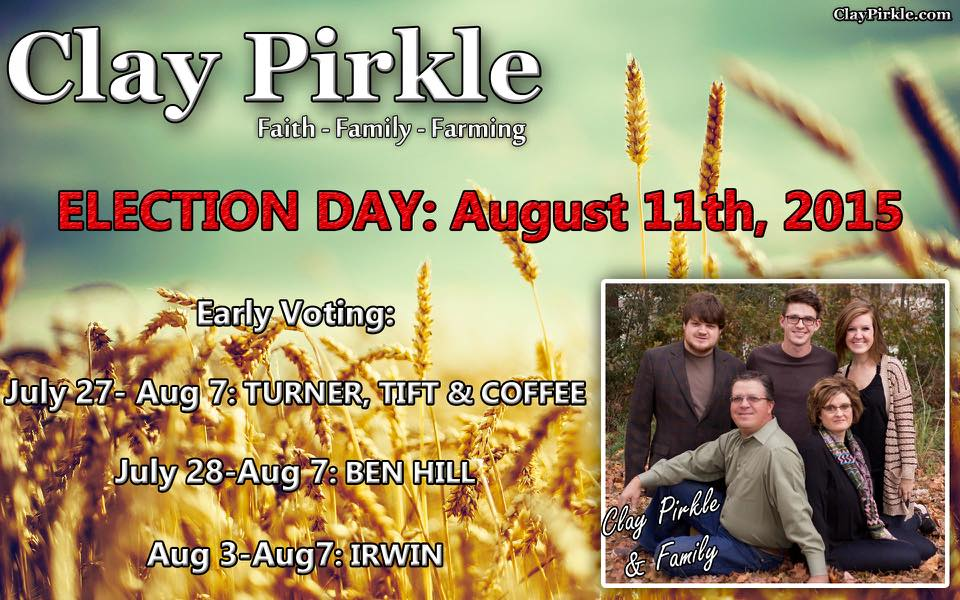 Clay Pirkle Early Voting