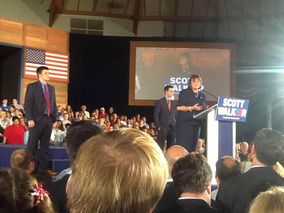 Tonette Walker introduces her husband, Wisconsin Gov. Scott Walker