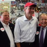 Jeb Bush and friends at The Varsity in Atlanta