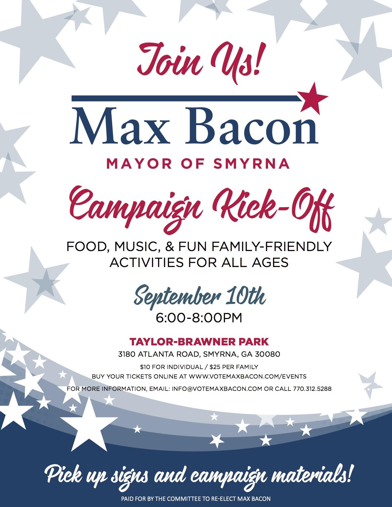 Max Bacon Kickoff