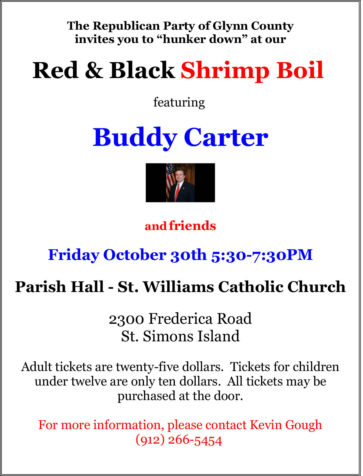 2015 Red & Black Shrimp Boil