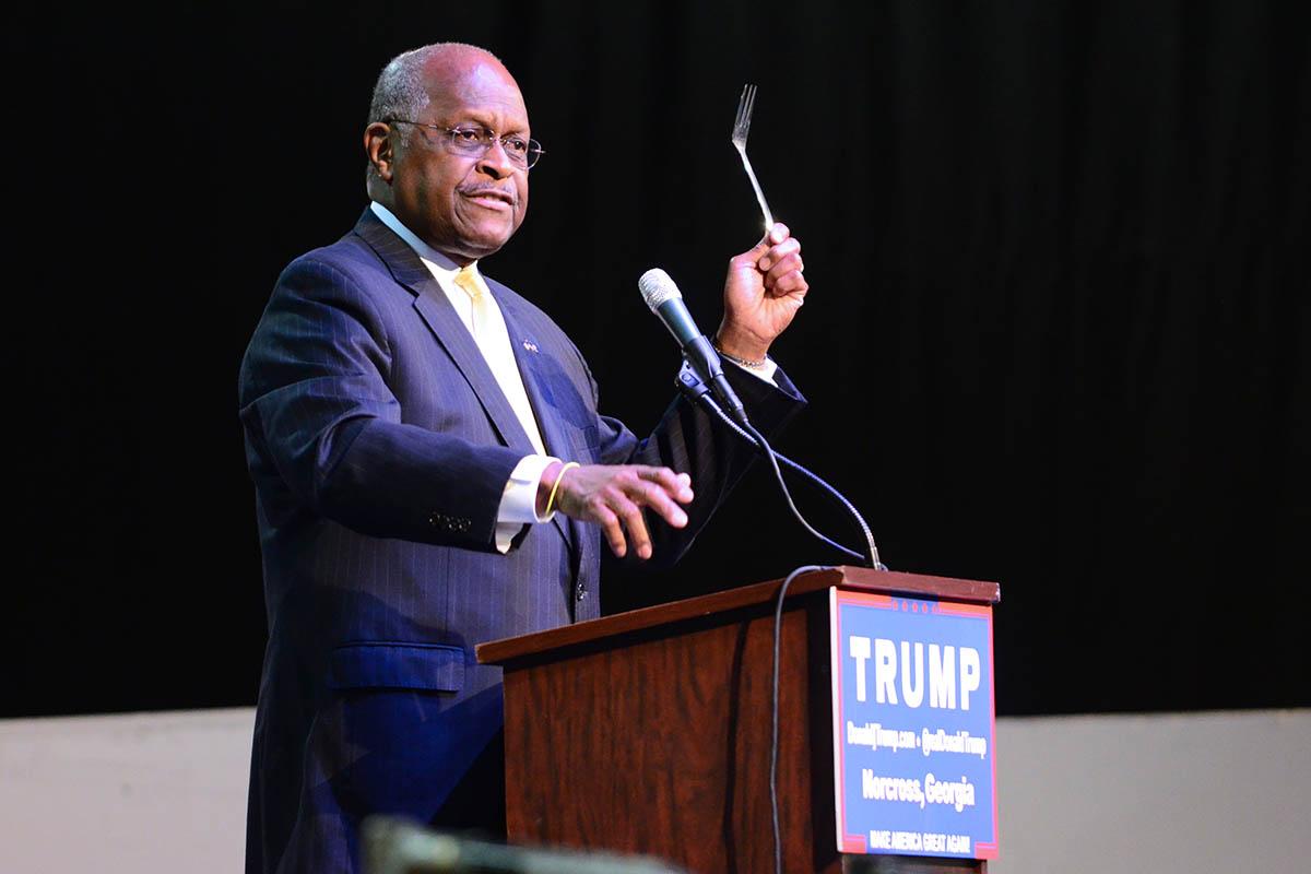 Herman Cain Fork Trump