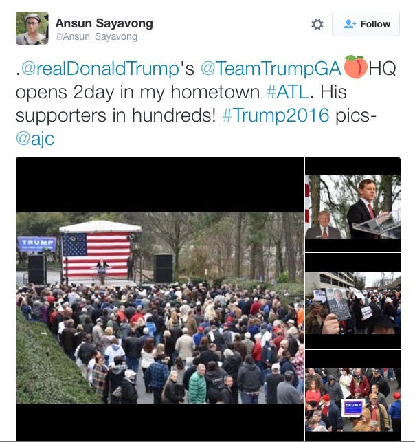 Crowd Trump Georgia HQ