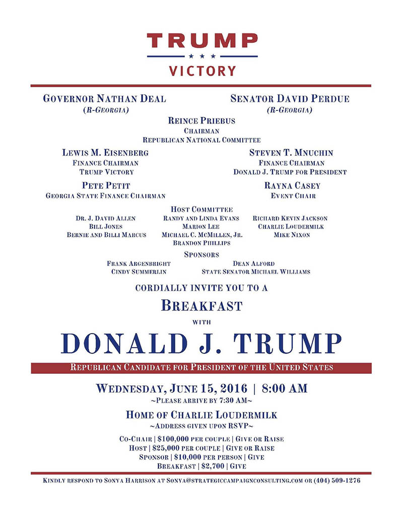 Trump Invite June 15