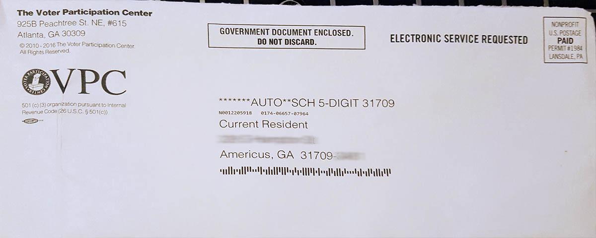 Voter Participation Center Envelope