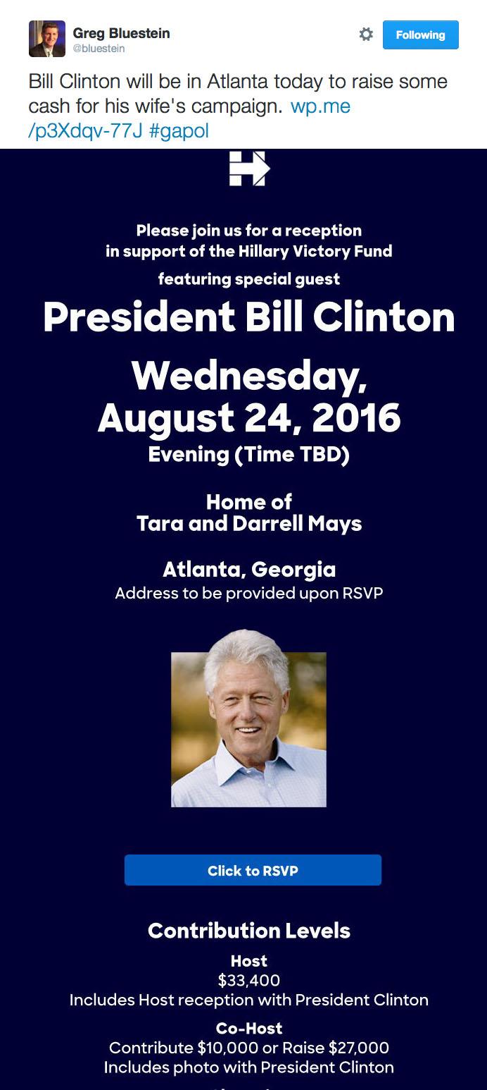 Bluestein Tweet Clinton 08242016