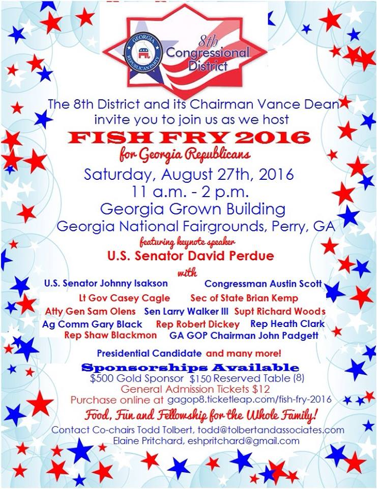 Fish Fry 8th GOP Flyer