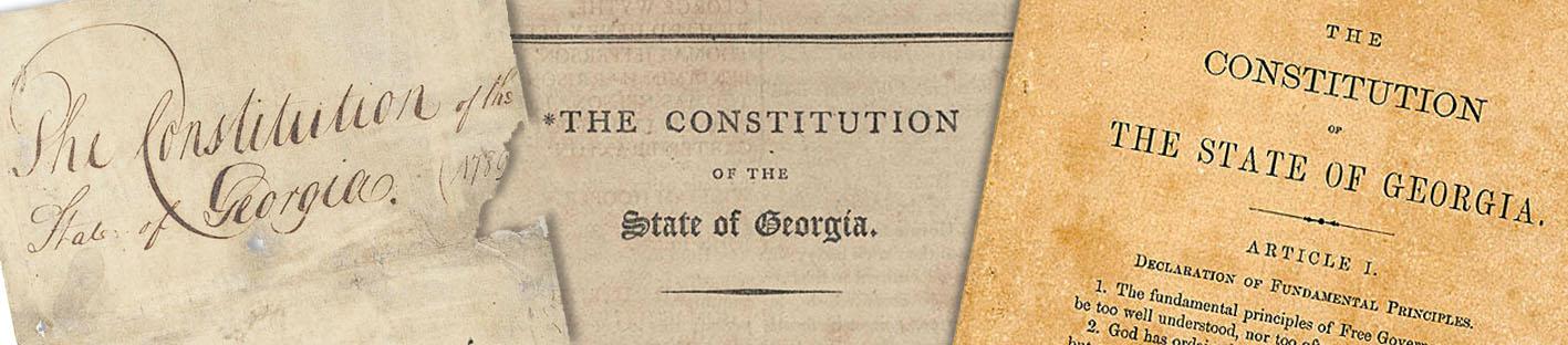Georgia Constitution Header