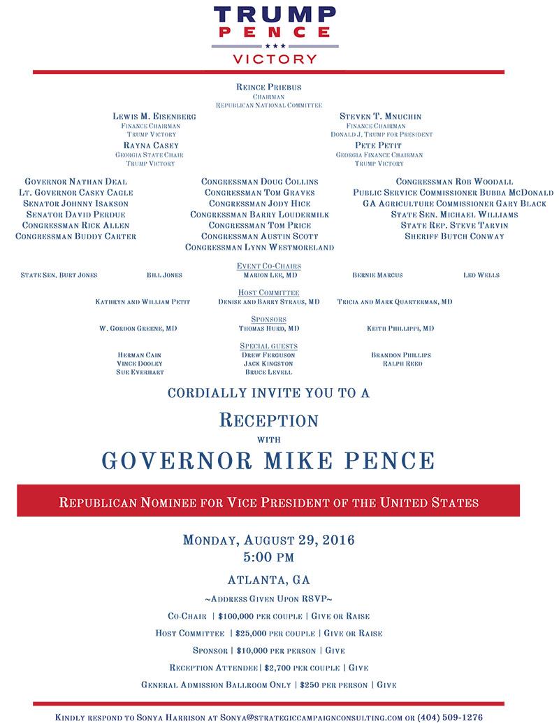 Pence Invite