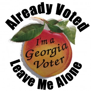 already-voted-peach-voter-sticker