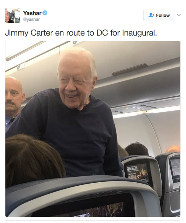 Carter Inaugural Twitter