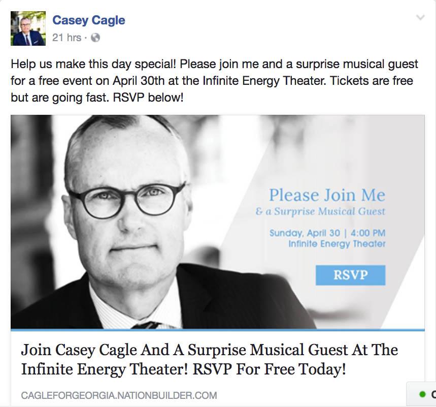Casey Cagle Event