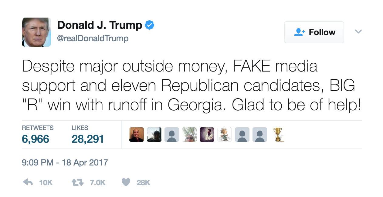 Trump GA6 Post