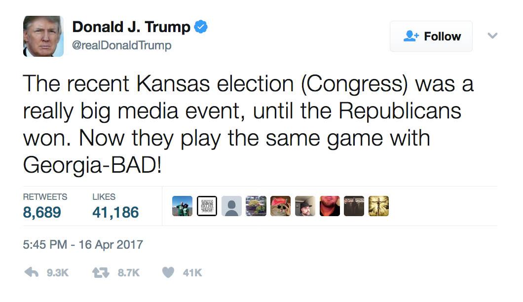 Trump KS GA Tweet