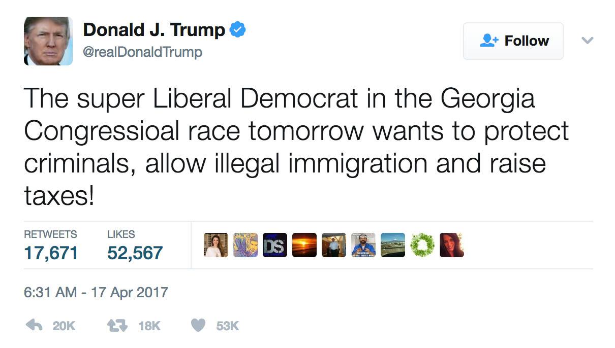 Trump Tweet Super Liberal